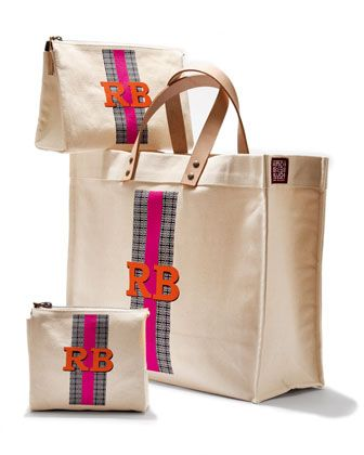personalized canvas bags | set of 3 |