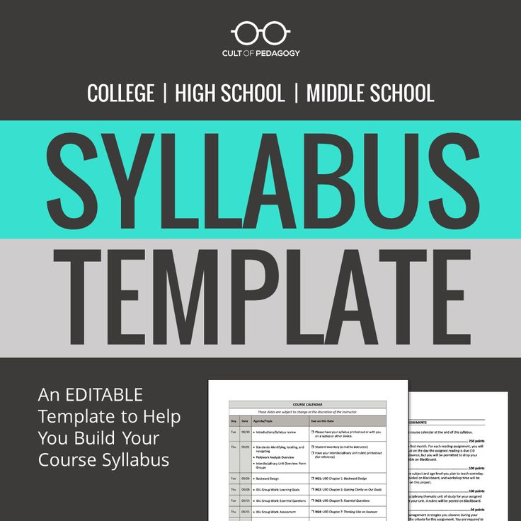 This model and template will help college, high school, and middle school teachers put together a syllabus that sets you and your students up for a great year. Continue Reading →