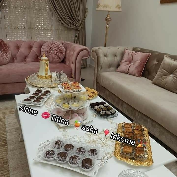 342 Likes 8 Comments Afkar W Tandimat On Instagram تقديم طاولة العيد كل عام وانتم بخير Afkar W Tandimat طاولة Decor Furniture Home Decor