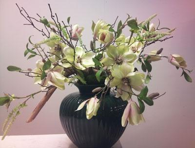 BO - gemaakt in vaas van klant *kunstbloemen, zijden bloemen*