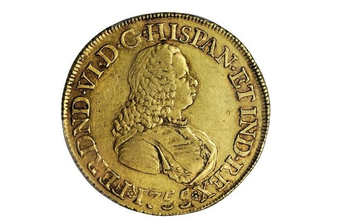 1755 Colombian milled escudos valued at over $60,000