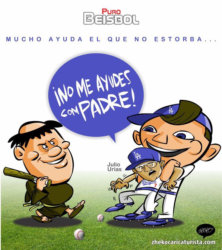 "#ElCartonDelDia para @purobeisbolfb""NO ME AYUDES CON-PADRE"" @Padres@Dodgers@theteenager7@MLB#JulioUrias"