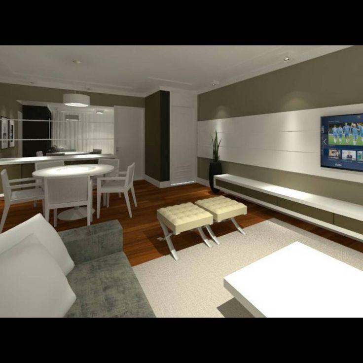 Design de interiores para uma sala de estar e jantar integrada de um apartamento.   – My design!