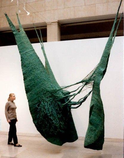 Magdalena Abakanowicz, Turquoise Abakan  on ArtStack #magdalena-abakanowicz #art