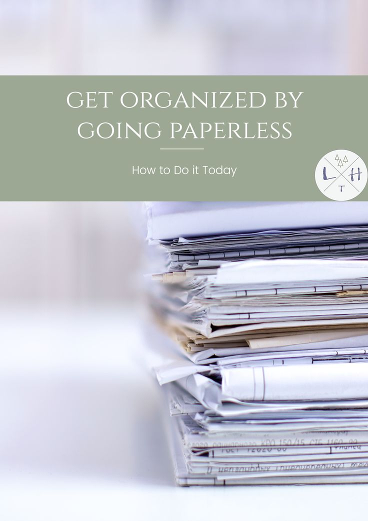 One of the worst things to try to deal with when decluttering your home is paper, the solution is going paperless as much as possible.  via @lavenderhytta