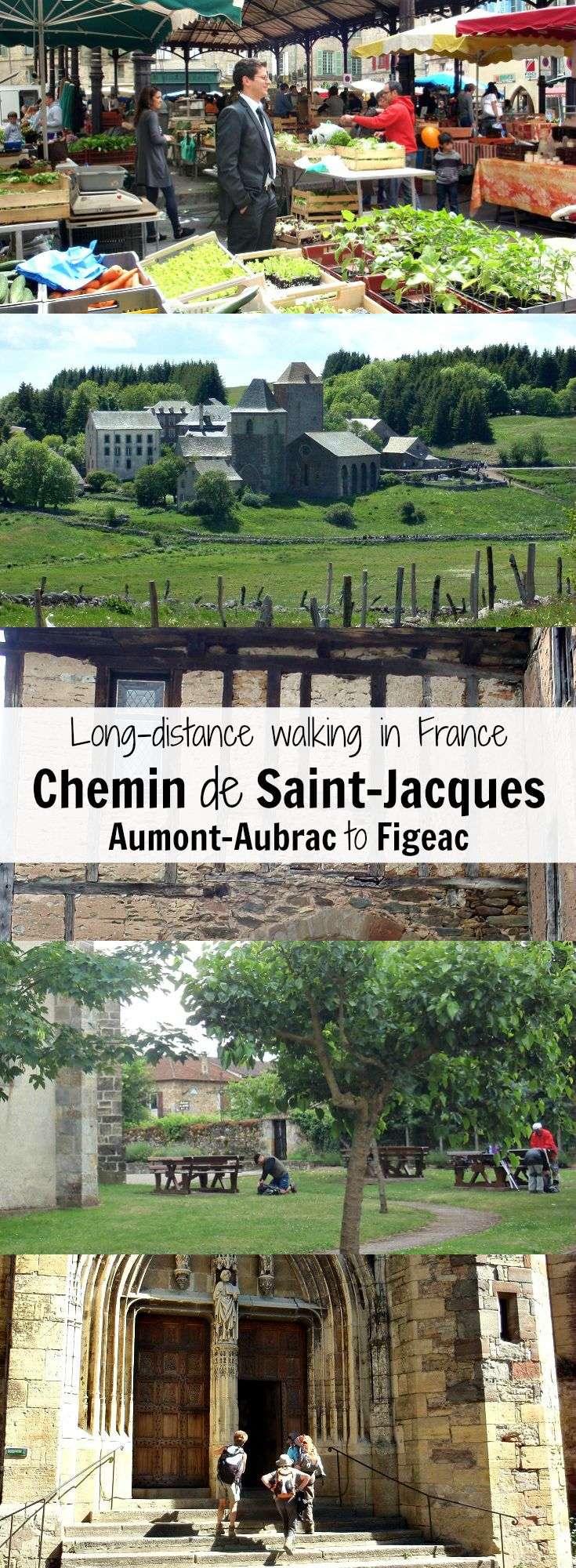Discover France on a long-distance walk along the Chemin de Saint-Jacques from Aumont-Aubrac to Figeac.