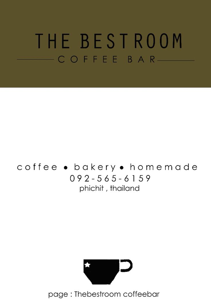NAME CARD, TheBestRoom ' Coffee Bar