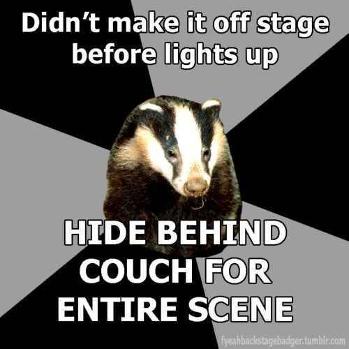 This all too familiar situation. | 26 Jokes Only Theatre Nerds Will Understand