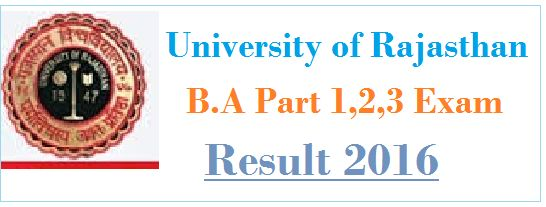 Uniraj B.A Result 2016,Uniraj B.A 2nd Year Result 2016,Uniraj B.A 1st Year Result 2016 ,Rajasthan University Result 2016,BA Results 2016, result.uniraj.ac.in,Result 2016 Uniraj B.A Result 2016 – The university of Rajasthan has been successfully organized BA Part 1,2,3 examination which was held in March to May month 2016. a huge of candidates had appeared for this …