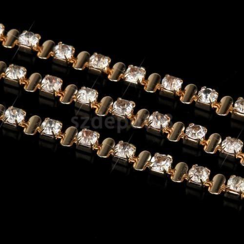 1Yd-Gold-Crystal-Rhinestone-Chain-DIY-Sewing-Trim-Bead-this would make gorgeous 3 row custom browband . On Ebay Ribbon-Belt-Applique