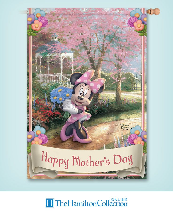 Bring Disney magic and Thomas Kinkade art to your Mother's Day celebration with this flag!