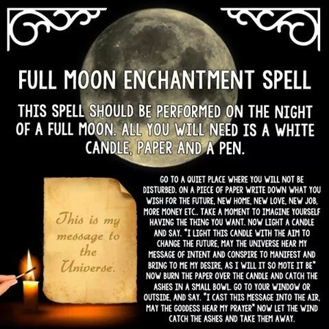 Full moon enchantment  spell