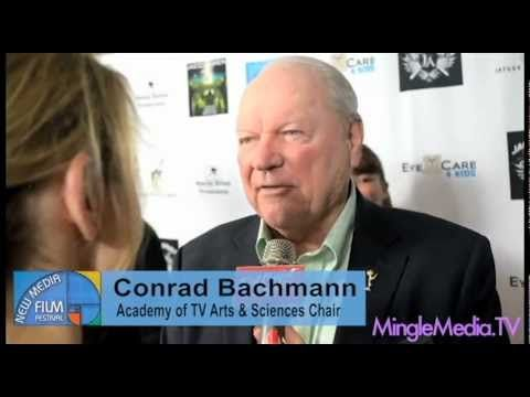 Conrad Bachmann at the New Media Film Festival Academy of TV Arts & Sciences Chair shares with us why he supports festivals and filmmakers with MingleMediaTV.