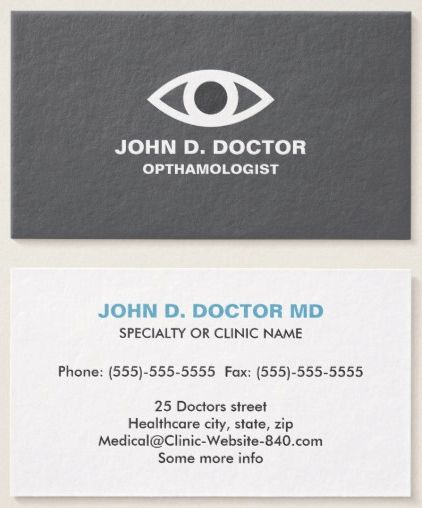 Best Medical Business Cards Images On   Business