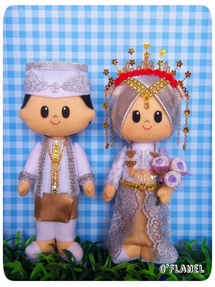Indonesian Muslim Bride and Groom