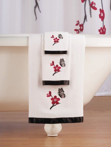 Asian Cherry Blossom 3-Pc. Bathroom Towel Set By Collections Etc by Collections Etc, http://www.amazon.com/dp/B00E0BS07U/ref=cm_sw_r_pi_dp_w.ywsb037TVMF