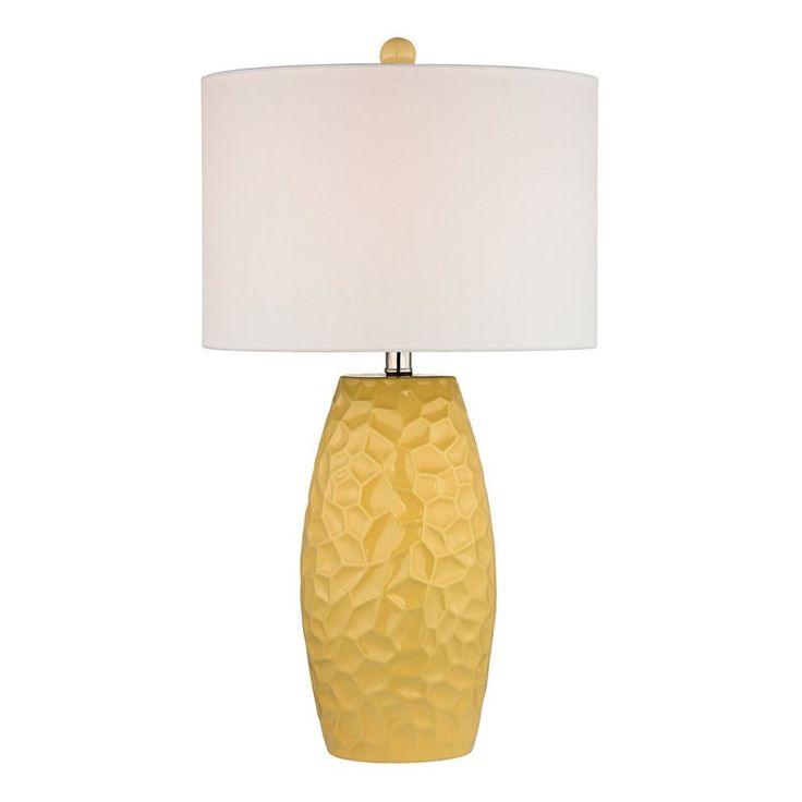 Dimond Lighting D2500 Selsey 1 Light Table Lamp in Sunshine Yellow