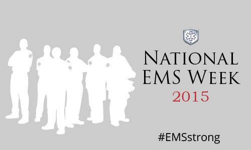 silhouettes of EMTs and paramedics for National EMS Week 2015