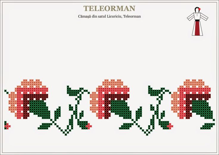 romanian traditional motifs - MUNTENIA, Teleorman