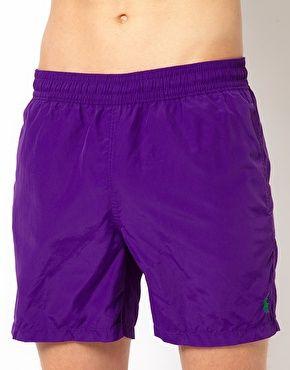 Polo Ralph Lauren Purple Hawaiian Swim Shorts