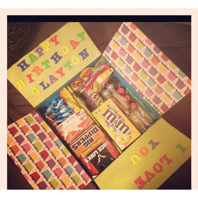 Birthday Care Package Idea
