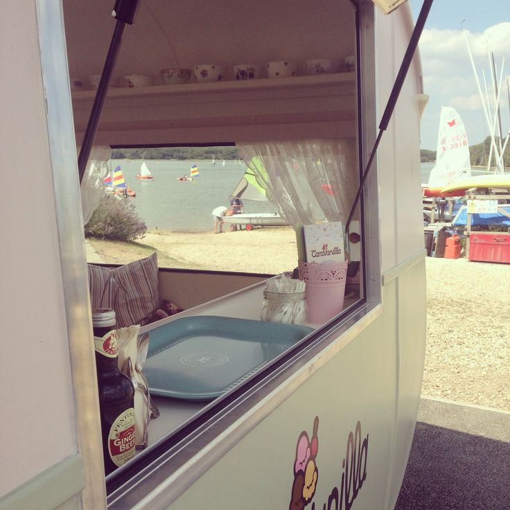 Scooping up ice cream from this beautiful vintage ice cream caravan
