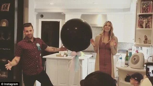 Place your bets! Jason Wahler and wife Ashley Slack held court with pals Sunday as they got together with friends to reveal their child's gender via balloon break