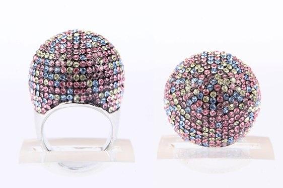 Crystal Ball Ring Multicolour