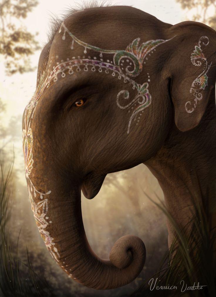 Veronica Voutila- 3D model of an holy elephant.