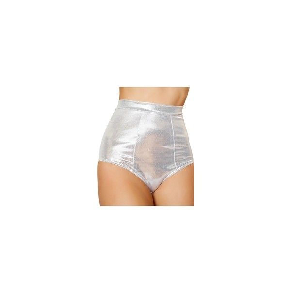 Metallic Silver High Waisted Shorts ❤ liked on Polyvore featuring shorts, bottoms, high waisted stretch shorts, stretchy high waisted shorts, high-waisted shorts, high rise shorts and stretch shorts