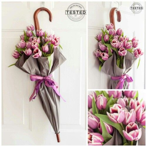Spring umbrella wreath. Love it!