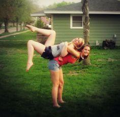 top 25 ideas about best friend stunts on pinterest  cheer