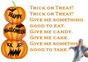 leuke halloween tekst plaatjes: Trick or Treat! Voor één van de leukste feesten van het jaar.
