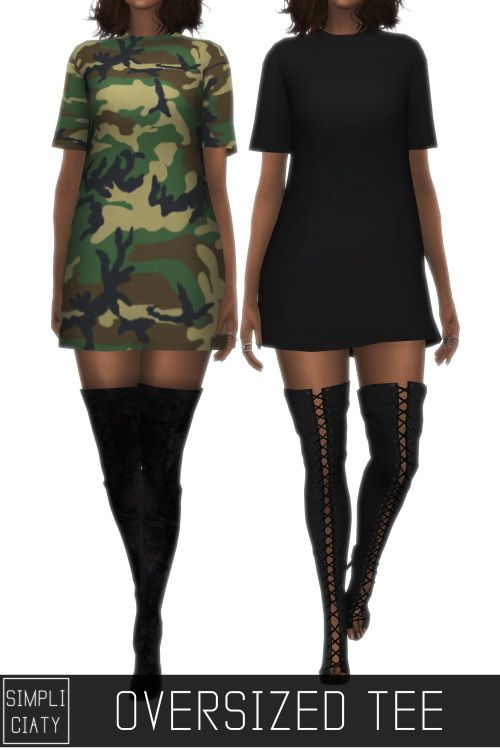 Simpliciaty: Oversised Tee • Sims 4 Downloads