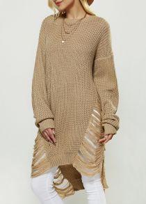 Ажурные Асимметричный свитер