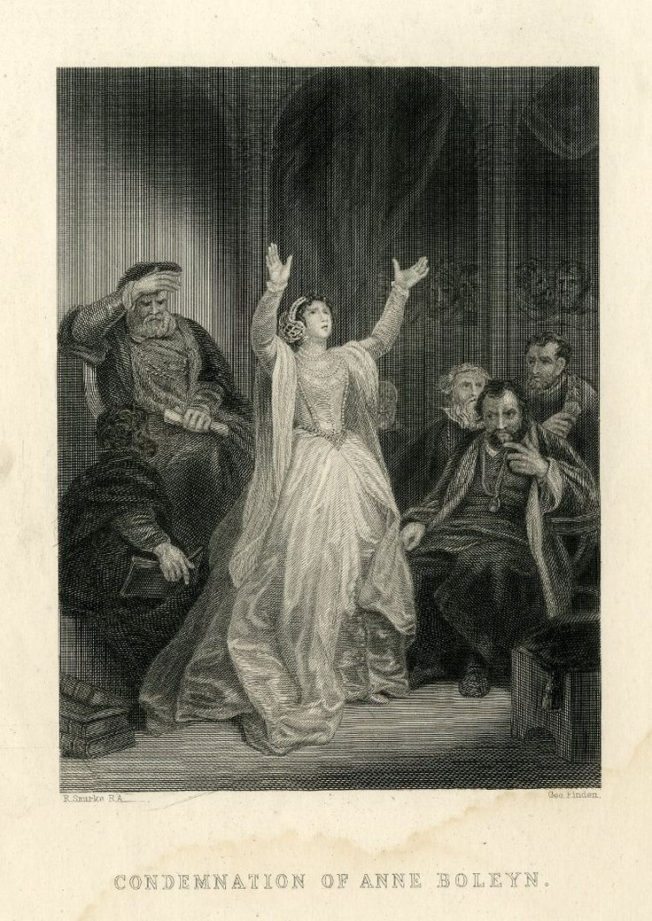 The Condemnation of Anne Boleyn, 1860. Henry VIII is in the background.