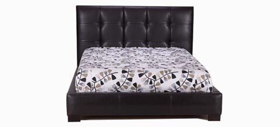 Queen bed Modena - Contemporary Style - Jaymar Collection.  Button-tufted bed