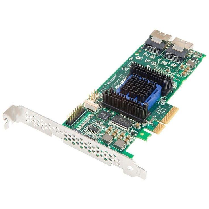 Microsemi Adaptec RAID 6805E Single - 6Gb/s SAS - PCI Express 2.0 x4 - Plug-in Card - RAID Supported - 0, 1, 10, 1E, JBOD RAID Level - 8 Total SAS Port(s) - 8 SAS Port(s) Internal - 128 MB