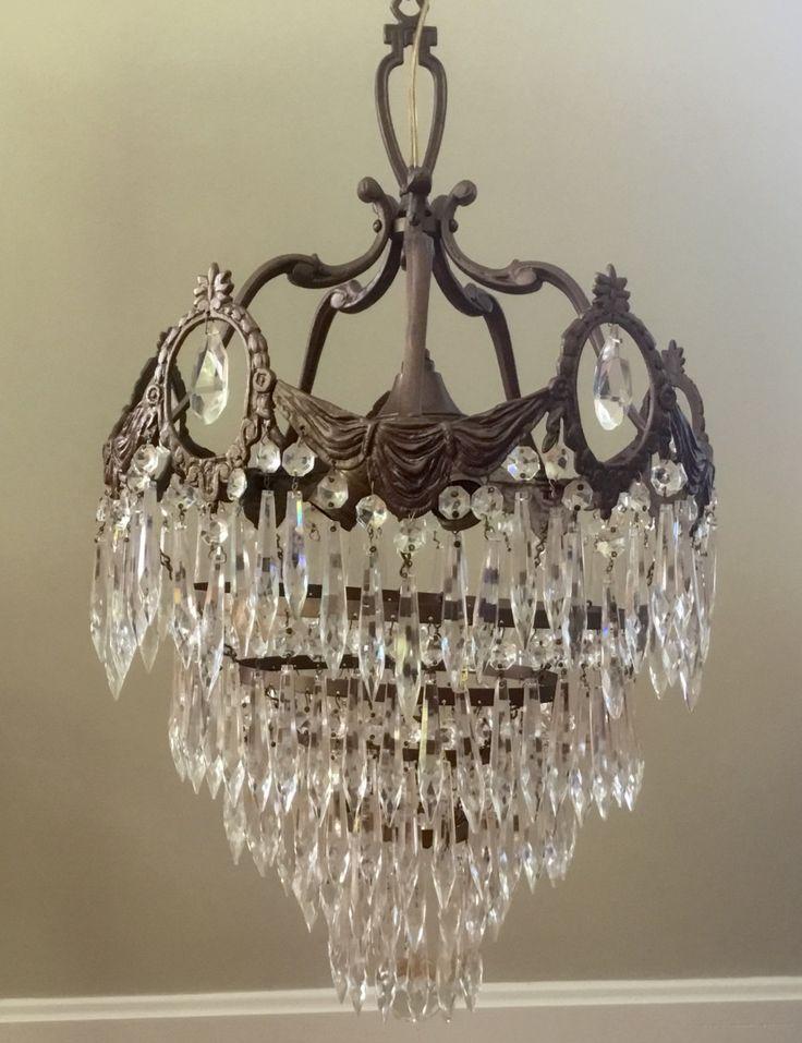 Antique Art Nouveau Deco Wedding Cake Crystal