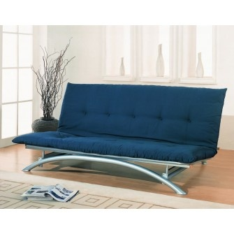 This modern, armless futon frame adds minimalist style to any room. It is also ideal for smaller spaces.
