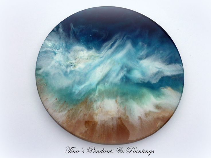 Stormy Ocean glass lazy Susan resin art now available