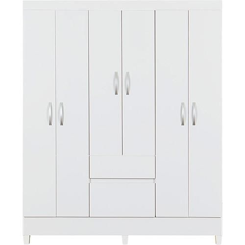 Guarda-Roupa 6 Portas Flash 2 Gavetas Branco - Demobile