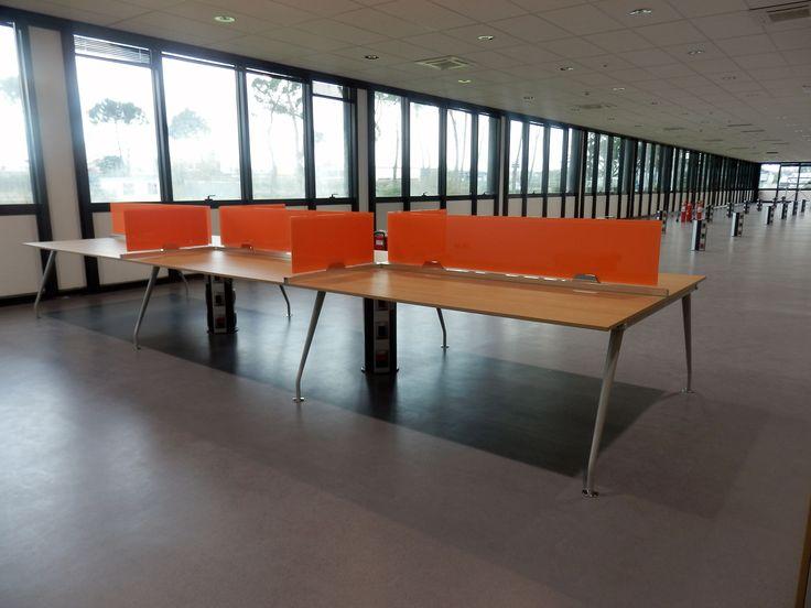 ABB realisation - Arcadia Ufficio. Kinesis furniture, operative line. Open space