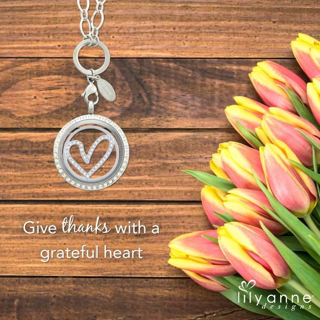 Happy Monday! Give thanks with a grateful heart #LilyAnneDesigns #PersonalisedLockets #CapturingMoments #FreeToBeMe