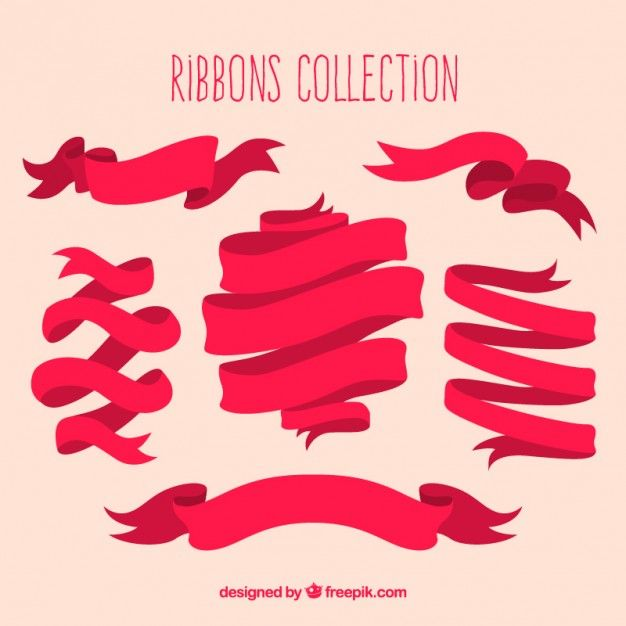 Retro ribbons collection I Free Vector