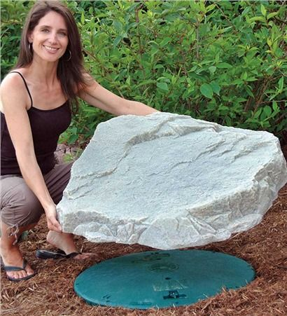 Mock Rock...something to cover my septic tank lids!