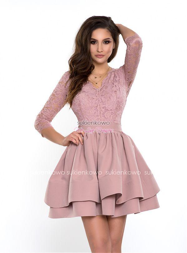 49dd6282 Sukienkowo.com - SONIA - Rozkloszowana sukienka z podwójnym dołem ...