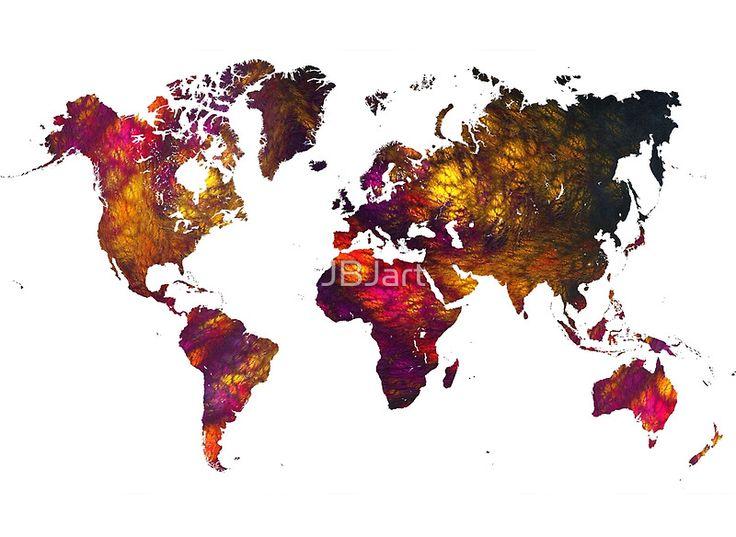 World Map Mountains