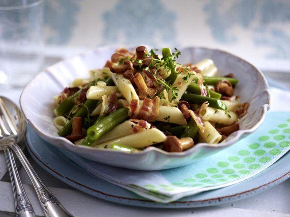 Pasta e fagioli mit grünen Bohnen und Pfifferlingen Rezept