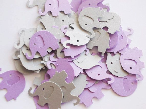 Hey, I found this really awesome Etsy listing at https://www.etsy.com/listing/175749426/elephant-baby-shower-confetti-lavender